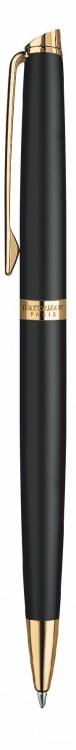 Подарочный набор Шариковая ручка Waterman Hemisphere Essential, Matt Black GT с чехлом