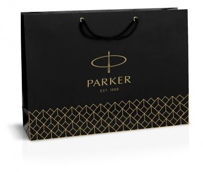 1952021 Фирменный бумажный пакет Parker под наборы, черный, 20х30см