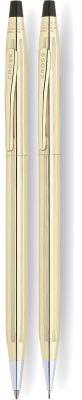 CR10S-GLD2G Cross Century Classic. Набор Cross Century Classic: шариковая ручка и механический карандаш 0.7мм. Цвет - золотистый.