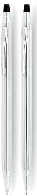 350105 Набор Cross Century Classic: шариковая ручка и механический карандаш 0.7мм. Цвет - серебристый.