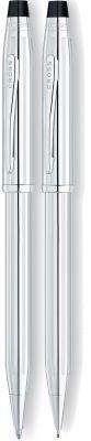 350105WG Набор Cross Century II: шариковая ручка и карандаш 0,7мм. Цвет - серебристый