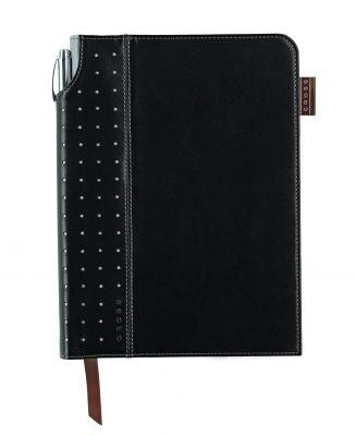 AC236-1M Записная книжка Cross Journal Signature A5, 250 страниц в линейку, ручка 3/4 в комплекте. Цвет - чер