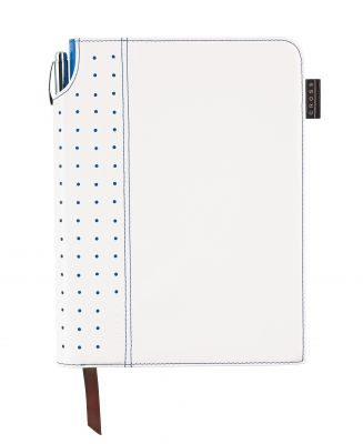 AC236-6M Записная книжка Cross Journal Signature A5, 250 страниц в линейку, ручка 3/4 в комплекте. Цвет - бел