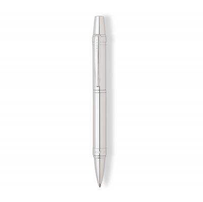 AT0382G-9 Шариковая ручка Cross Nile. Цвет - серебристый.