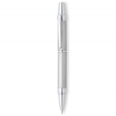 AT0382G-8 Шариковая ручка Cross Nile. Цвет - серебристый матовый.