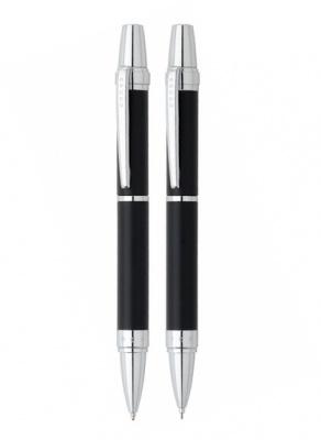 AT0381G-7 Набор Cross Nile: шариковая ручка и механический карандаш 0.7мм. Цвет - черный матовый.