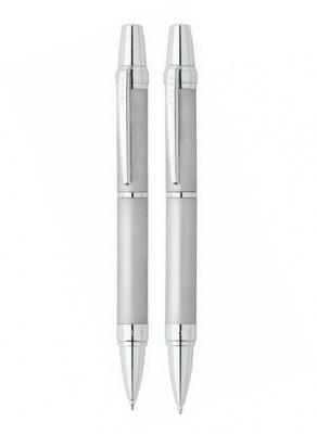 AT0381G-8 Набор Cross Nile: шариковая ручка и механический карандаш 0.7мм. Цвет - серебристый матовый.