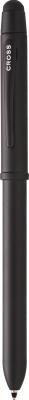 839579,AT0090-7 Многофункциональная ручка Cross Tech3+. Цвет - черный матовый.