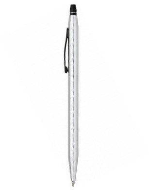 AT0625-1 Ручка-роллер Cross Click без колпачка с тонким стержнем. Цвет - серебристый