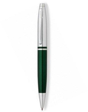 AT0112-7 Шариковая ручка Cross Calais. Цвет - зеленый + серебристый.