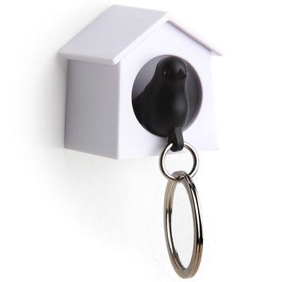 DF201611052 Qualy. Держатель+брелок для ключей mini sparrow черный