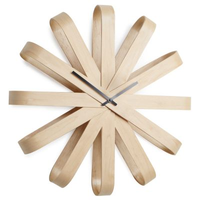 DF2016174 Umbra. Часы настенные ribbon дерево