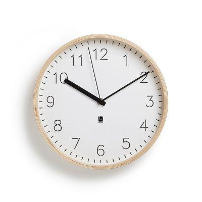 DF201611079 Umbra. Часы настенные rimwood белые
