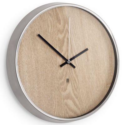 DF201611373 Umbra. Настенные часы madera светлое дерево