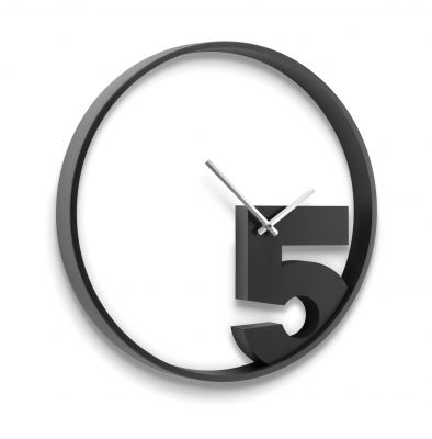 DF201611136 Umbra. Часы настенные take 5 черные