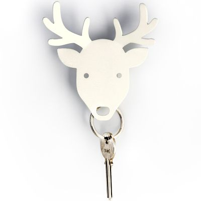 DF201611263 Qualy. Держатель для ключей и аксессуаров deer белый