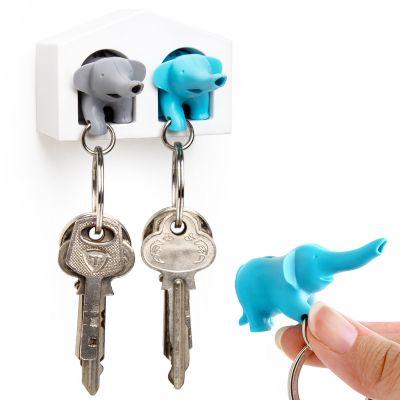 DF20161276 Qualy. Держатель+брелок для ключей двойной elephant