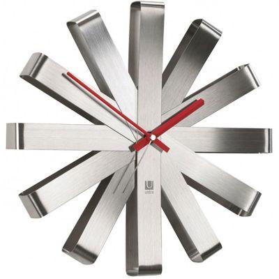 DF20161619 Umbra. Часы настенные ribbon сталь