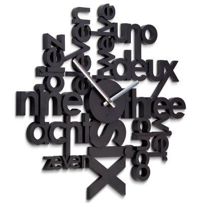 DF2016133 Umbra. Часы настенные lingua черные