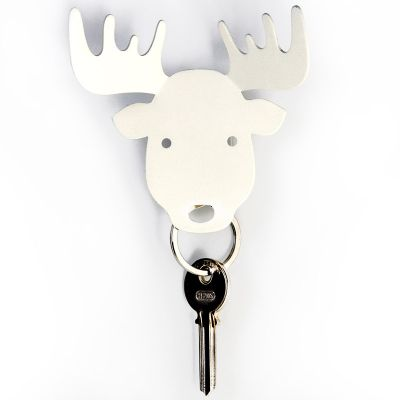 DF20161602 Qualy. Держатель для ключей и аксессуаров moose белый