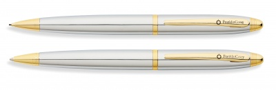 FC7S-GRY6G Franklin Covey Lexington. Набор FranklinCovey Lexington: шариковая ручка и карандаш 0.9мм. Цвет - хромовый с золотистой отделк