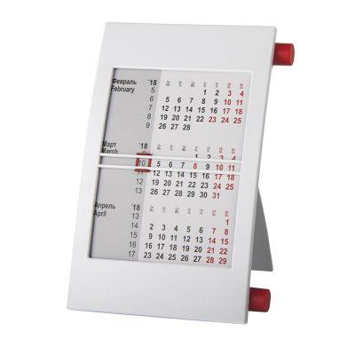 HG15091403 Walz. Календарь настольный на 2 года; белый с красным; 18х11 см; пластик; тампопечать, шелкография