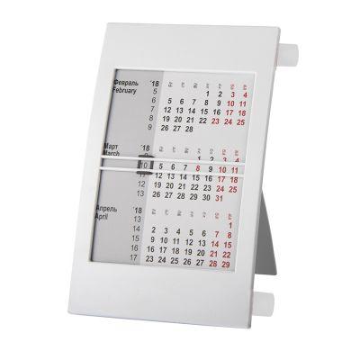 HG15091407 Walz. Календарь настольный на 2 года; белый; 18х11 см; пластик; тампопечать, шелкография
