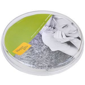 HG15091135 Rusgifts. Монетница прозрачная круглая; 17,2х17,2х2,4 см; пластик; полноцветная печать на вставку