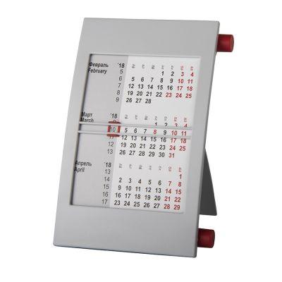 HG15091412 Walz. Календарь настольный на 2 года; серый с красным; 18х11 см; пластик; шелкография, тампопечать