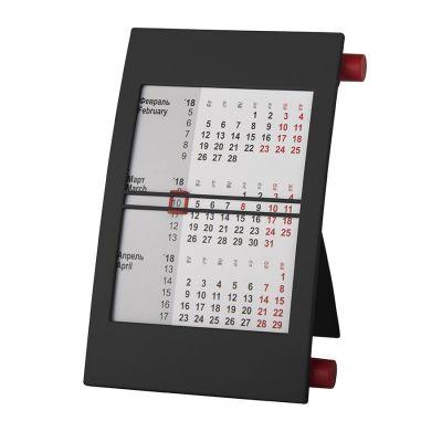HG15091415 Walz. Календарь настольный на 2 года; черный с красным; 18х11 см; пластик; тампопечать, шелкография