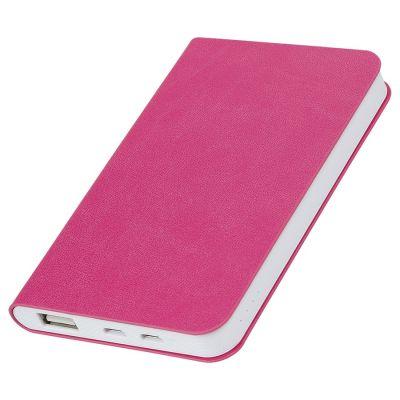 "HG17015164 thINKme. Универсальное зарядное устройство ""Softi"" (4000mAh),розовый, 7,5х12,1х1,1см, искусственная кожа,плас"