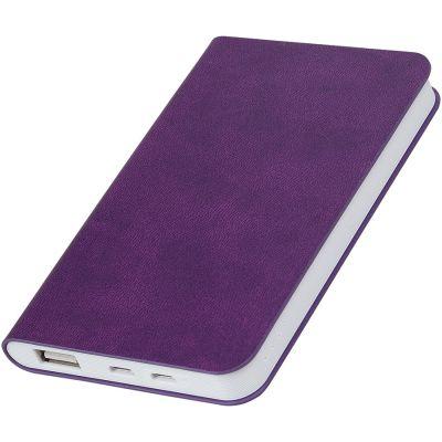 """HG17015165 thINKme. Универсальное зарядное устройство """"Softi"""" (4000mAh),фиолетовый, 7,5х12,1х1,1см, искусственная кожа"""