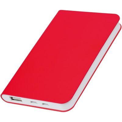 "HG17015167 thINKme. Универсальное зарядное устройство ""Silki"" (4000mAh),красный, 7,5х12,1х1,1см, искусственная кожа,плас"