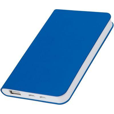 """HG17015169 thINKme. Универсальное зарядное устройство """"Silki"""" (4000mAh),синий, 7,5х12,1х1,1см, искусственная кожа,пласти"""