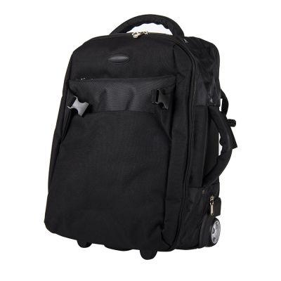 """HG184061254 Рюкзак на колесах  """"Kuman""""; черный; 36х47  см.; полиэстер 1680D; шелкография"""