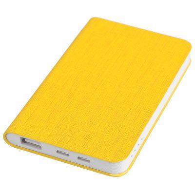 "HG170151650 thINKme. Универсальное зарядное устройство ""Provence"" (4000mAh),желтый, 7,5х12,1х1,1см, искусственная кожа,пл"