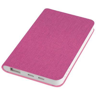 "HG170151651 thINKme. Универсальное зарядное устройство ""Provence"" (4000mAh),розовый,7,5х12,1х1,1см, искусственная кожа,пл"