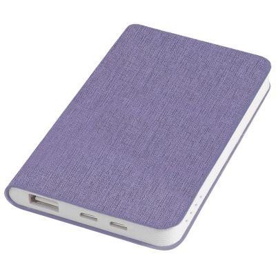 """HG170151653 thINKme. Универсальное зарядное устройство """"Provence"""" (4000mAh),сиреневый,7,5х12,1х1,1см, искусственная кожа"""