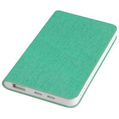 "HG170151655 thINKme. Универсальное зарядное устройство ""Provence"" (4000mAh),зеленый,7,5х12,1х1,1см, искусственная кожа,пл"