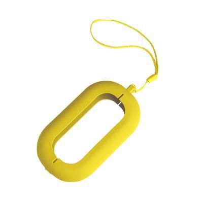 """HG170151459 Обложка с ланъярдом к зарядному устройству """"Seashell-2"""", желтый,силикон"""