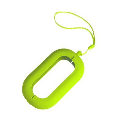 """HG170151464 Обложка с ланъярдом к зарядному устройству """"Seashell-2"""", светло-зеленый,силикон"""