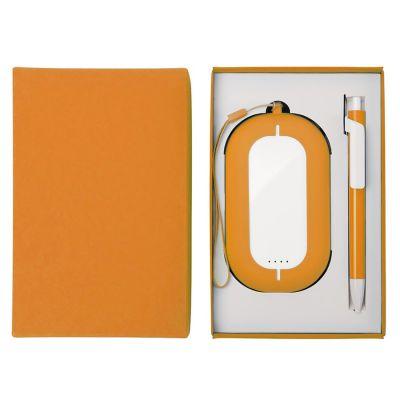 HG184061190 Набор SEASHELL-2:универсальное зарядное устройство(6000 mAh) и ручка в подарочной коробке,оранжевый