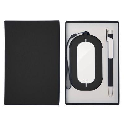 HG184061198 Набор SEASHELL-2:универсальное зарядное устройство(6000 mAh) и ручка в подарочной коробке,черный