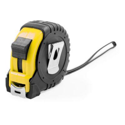 HG170151328 Рулетка пластиковая, 5 м.,желтая, 7*7*3,5 см, с металлическим клипом