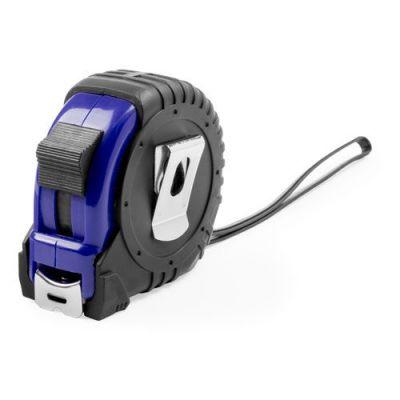 HG170151329 Рулетка пластиковая, 5 м.,синяя, 7*7*3,5 см, с металлическим клипом