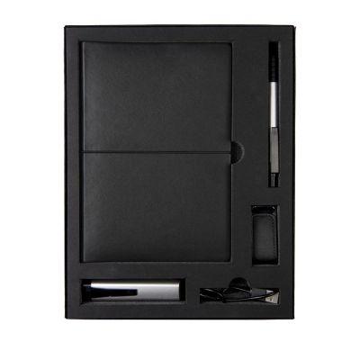 HG170151585 Набор  BLACKY TOWER:универсальное зарядное устройство(2200мАh),блокнот,USB flash-карта и ручка в подарочной коробке