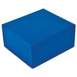 HG1509314 Коробка  подарочная складная ,  синий, 22 x 20 x 11 cm,  кашированный картон,  тиснение, шелкография