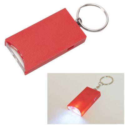 "HG15092356 Брелок ""And"" с подсветкой; красный, 2,8х5,2х0,9 см, пластик"