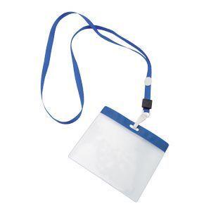 HG15092269 Ланъярд с держателем для бейджа; синий; 11,2х48,5х0,5 см; полиэстер, пластик; тампопечать, шелкограф