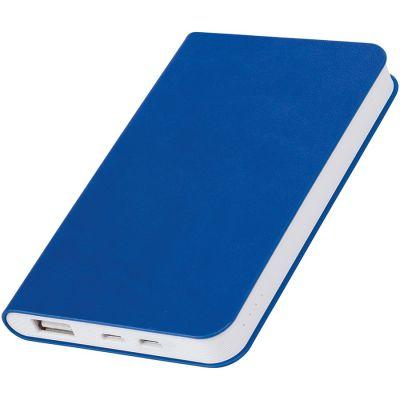 """HG17015174 thINKme. Универсальное зарядное устройство """"Softi"""" (4000mAh),синий, 7,5х12,1х1,1см, искусственная кожа,пл"""